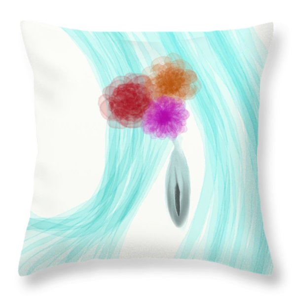 Breeze Throw Pillow by Len YewHeng