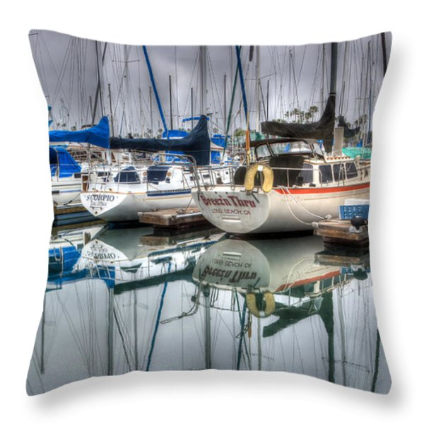 Breez'n Thru Throw Pillow by Heidi Smith