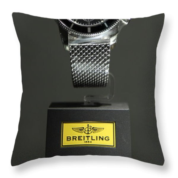 Breitling Watch - 5D20664 Throw Pillow by Wingsdomain Art and Photography