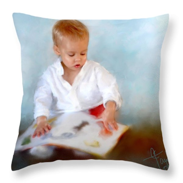 Brenner's Books Throw Pillow by Colleen Taylor