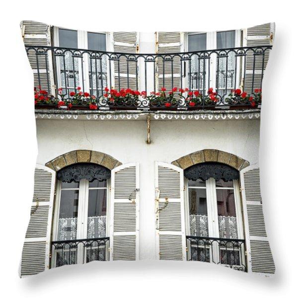 Breton house Throw Pillow by Elena Elisseeva
