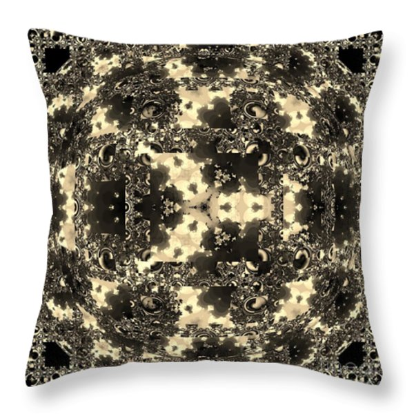 Bric A Brac Ball Throw Pillow by Elizabeth McTaggart