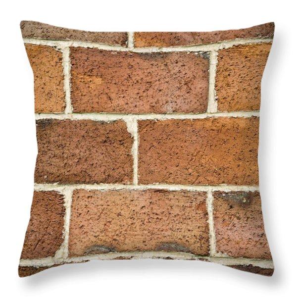 Brick Wall Throw Pillow by Frank Tschakert