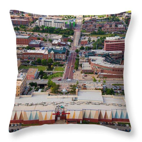 Bricktown Ballpark A Throw Pillow by Cooper Ross