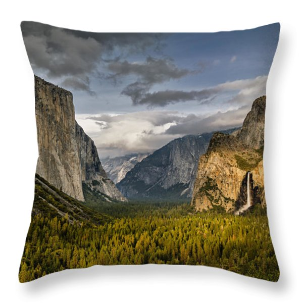 Bridal Vail Fall In The Spotlight Throw Pillow by Eduard Moldoveanu