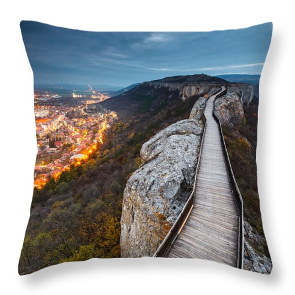Bridge Between Epochs Throw Pillow by Evgeni Dinev