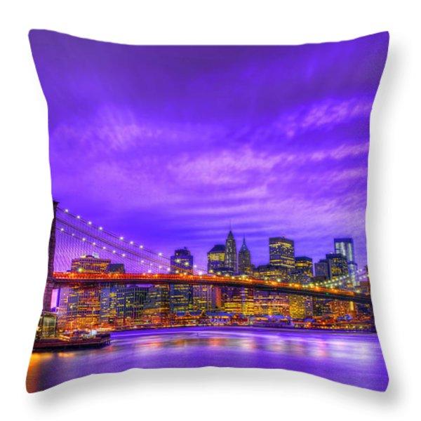Bridge Of  Dream Throw Pillow by Midori Chan