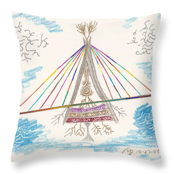 Bridge Of Light Throw Pillow by Mark David Gerson
