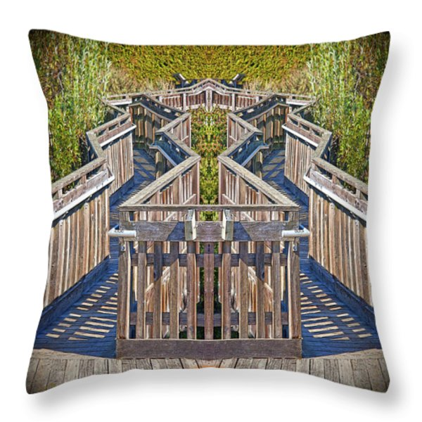 Bridge To Beyond Throw Pillow by Chuck Staley