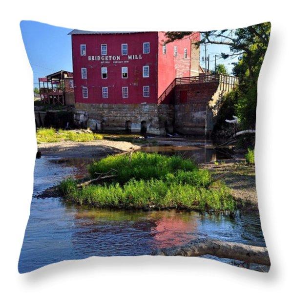 Bridgeton Mill 2 Throw Pillow by Marty Koch