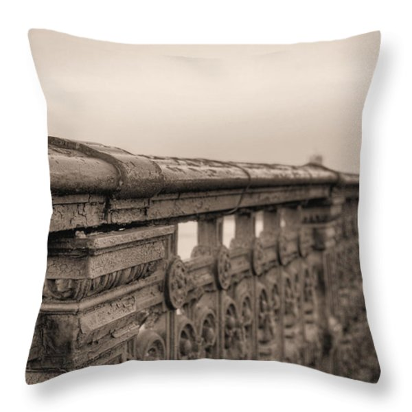 Bridging the Charles BW Throw Pillow by JC Findley