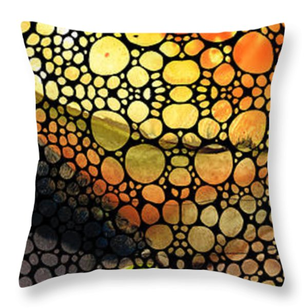 Bridging The Gap - Stone Rock'd Art Print Throw Pillow by Sharon Cummings