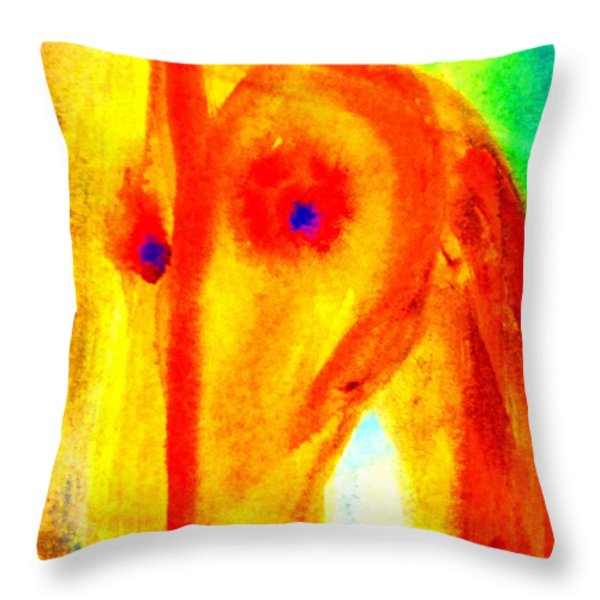 Bright eyes burning   Throw Pillow by Hilde Widerberg