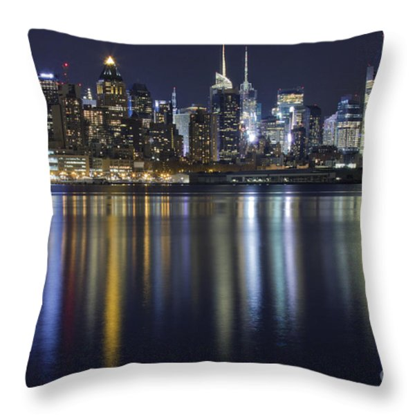 Bright Lights Big City Throw Pillow by Marco Crupi