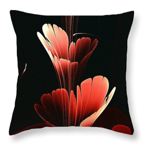 Bright Red Throw Pillow by Anastasiya Malakhova