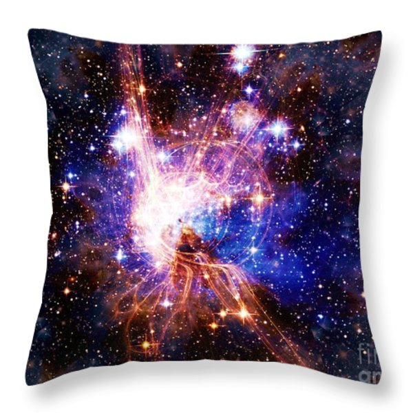 Bright Side of the Black Hole Throw Pillow by Elizabeth McTaggart
