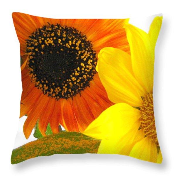 Bright Trio Throw Pillow by Kathy Bassett