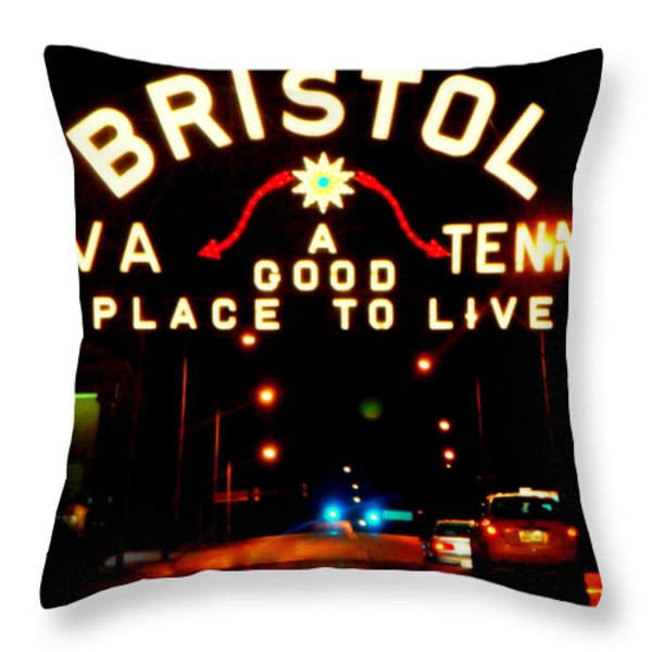BRISTOL Throw Pillow by KAREN WILES