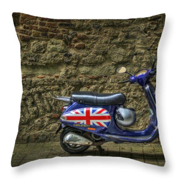 British At Heart Throw Pillow by Evelina Kremsdorf