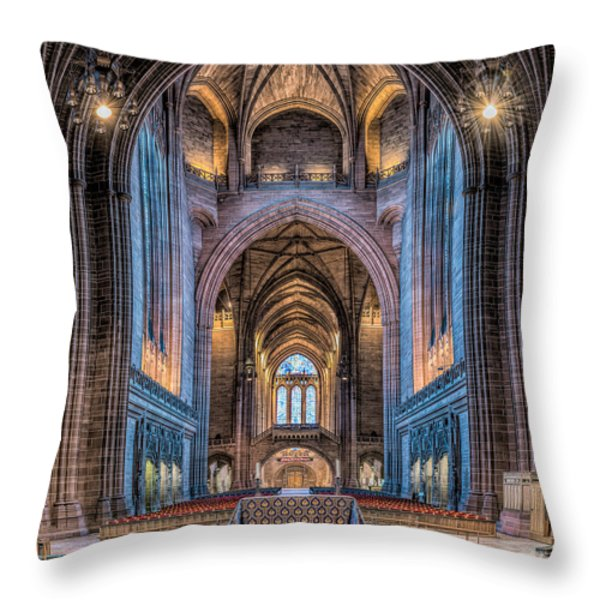 British Cathedral Throw Pillow by Adrian Evans