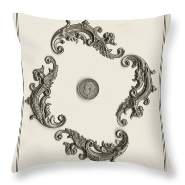 British Shilling Wall Art Throw Pillow by Joseph Baril