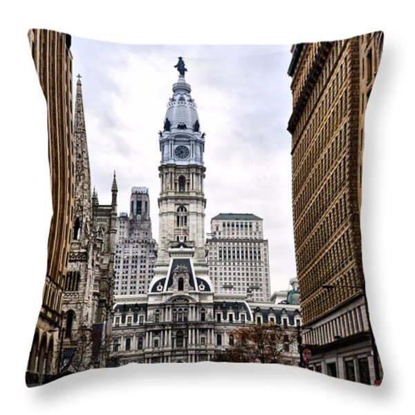 Broad Street Philadelphia Throw Pillow by Bill Cannon