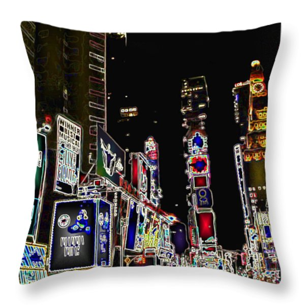 Broadway Throw Pillow by Joan  Minchak