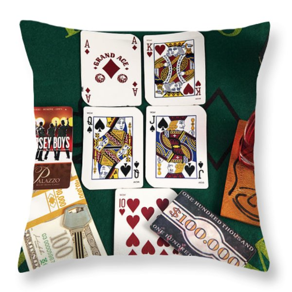 Broadway Throw Pillow by John Rizzuto