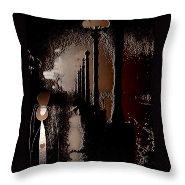 Broadway Meets the West Village at Night Throw Pillow by Natasha Marco