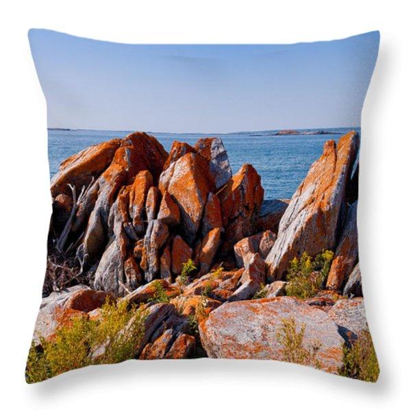 Broken Boulders Throw Pillow by Les Palenik