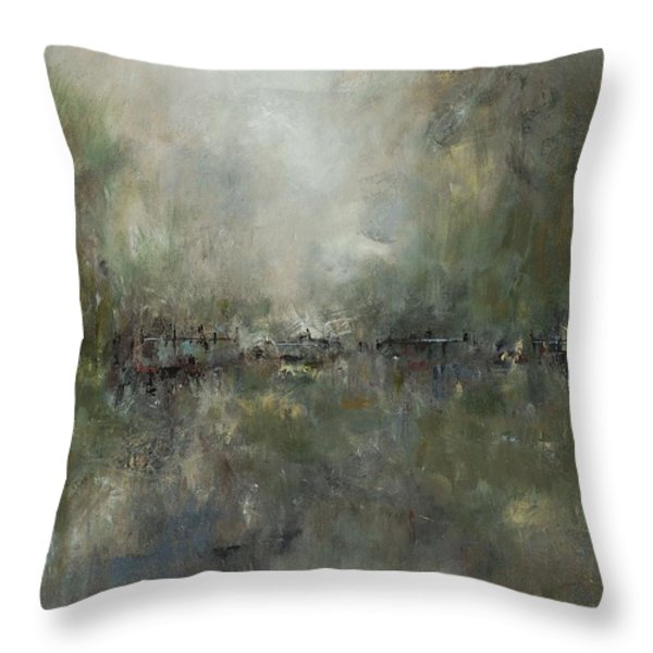 Broken Fences Throw Pillow by Frances Marino
