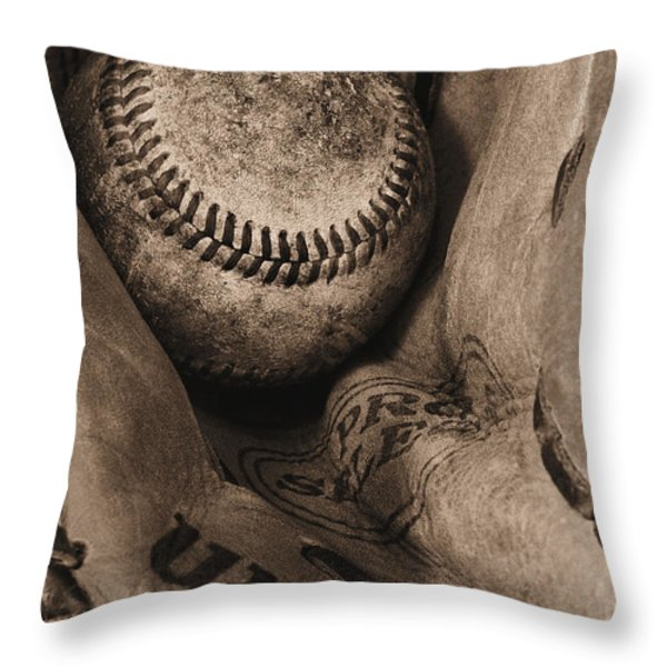 Broken In BW Throw Pillow by JC Findley