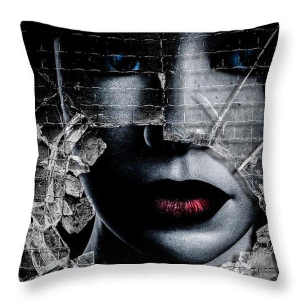 Broken Window Throw Pillow by Bob Orsillo
