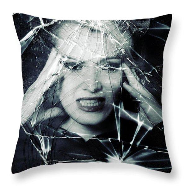 Broken Window Throw Pillow by Joana Kruse