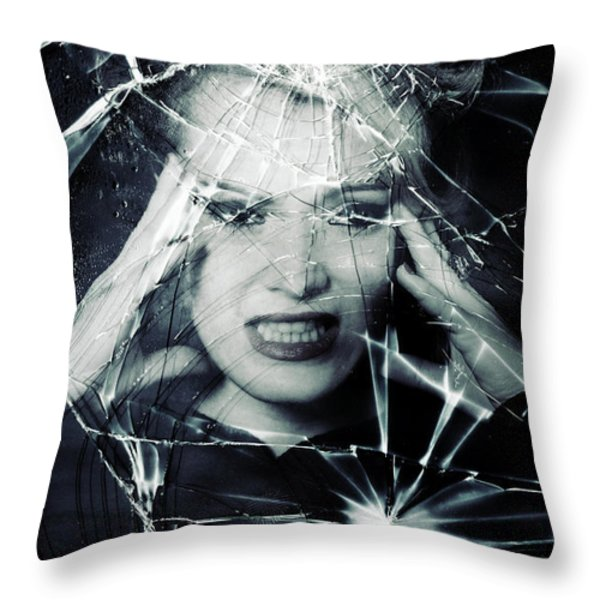 broken window Throw Pillow by Joana Kruse