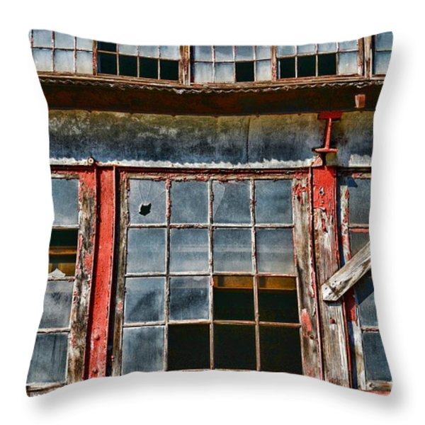 Broken Windows Throw Pillow by Paul Ward