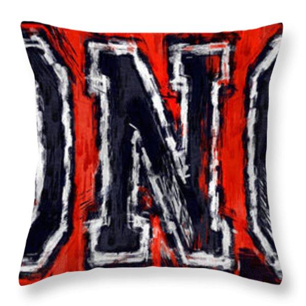 Broncos Throw Pillow by David G Paul
