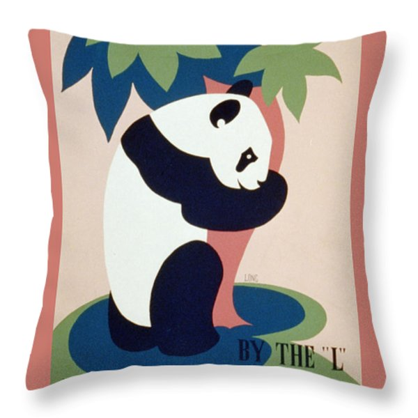 Brookfield Zoo Panda Throw Pillow by Unknown