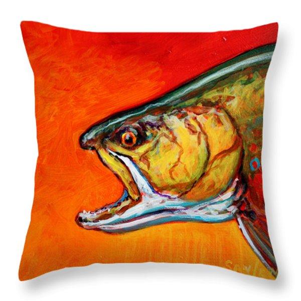 Brookie Portrait  Throw Pillow by Mike Savlen