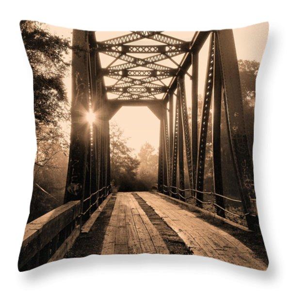 Brooklyn Bridge 3 Throw Pillow by JC Findley
