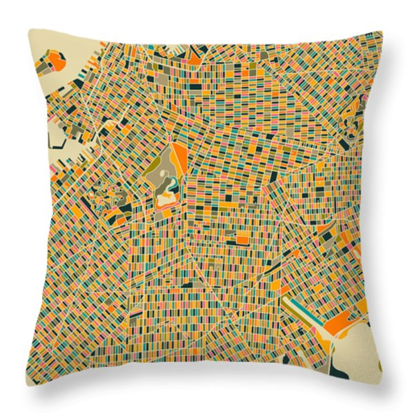 Brooklyn Throw Pillow by Jazzberry Blue