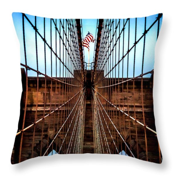 Brooklyn Perspective Throw Pillow by Az Jackson
