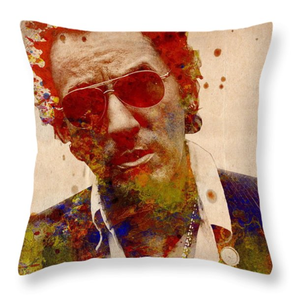 Bruce Springsteen Throw Pillow by MB Art factory