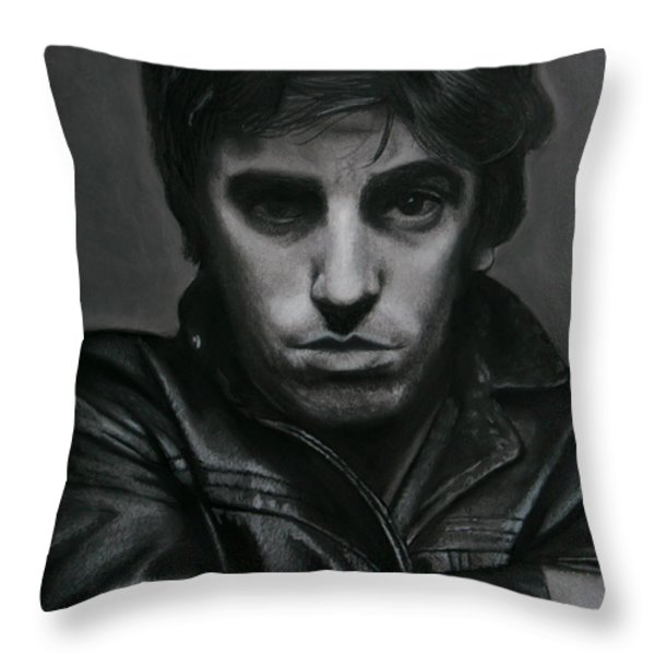 Bruce Springsteen Throw Pillow by Riane Cook