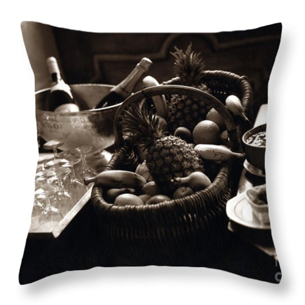 Brunch in the Loire Valley Throw Pillow by Madeline Ellis