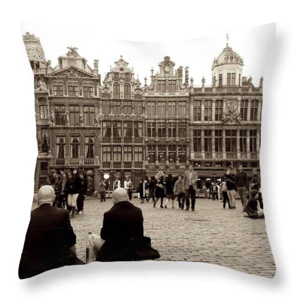 Brussel's Trance Throw Pillow by Donato Iannuzzi