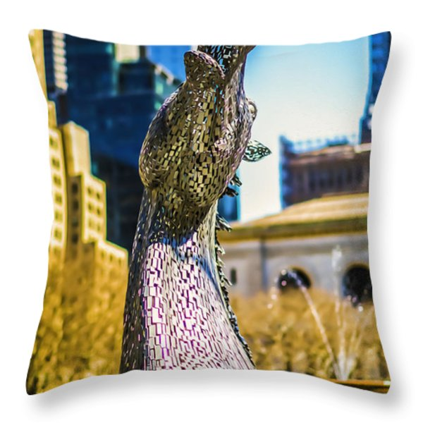 Bryant Park Kelpy Too Two Throw Pillow by John Jack