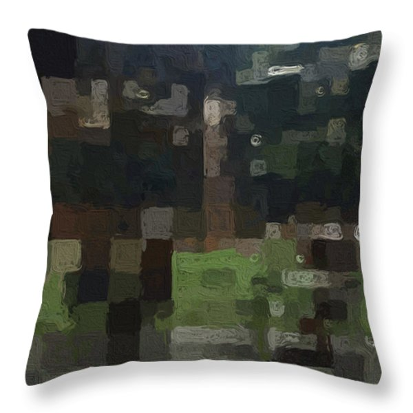 Bryant Park Throw Pillow by Linda Woods
