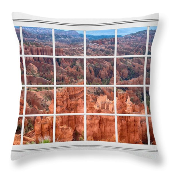 Bryce Canyon White Picture Window View Throw Pillow by James BO  Insogna