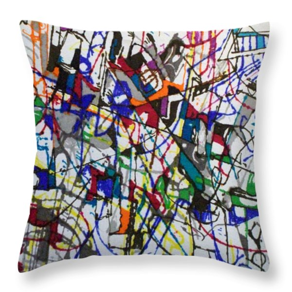 bSeter Elyion 31 Throw Pillow by David Baruch Wolk